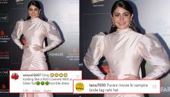 Netizens troll Anushka Sharma for her ivory gown; calls her,