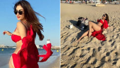 Mouni Roy looks burning red hot in her latest bikini-clad beach pics