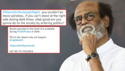 CAA Protest: After Rajinikanth shares his views, Twitterati trends #IStandWithRajinikanth and #ShameOnYouSanghiRajini