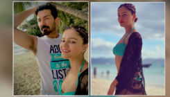 Rubina Dilaik and Abhinav Shukla are having a super romantic time on their beach vacation-view pics and videos