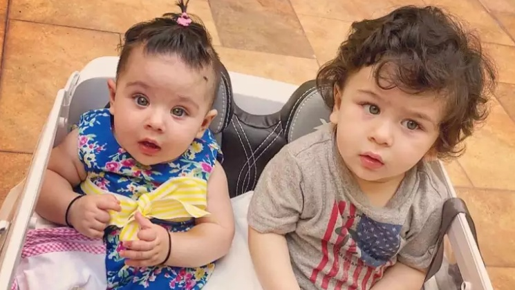 Taimur and Inaaya enjoying swing ride is the cutest thing on the internet | Bollywood Bubble