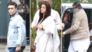 Amitabh Bachchan, Aishwarya Rai and Karan Johar leave for Delhi to attend Ritu Nanda's funeral