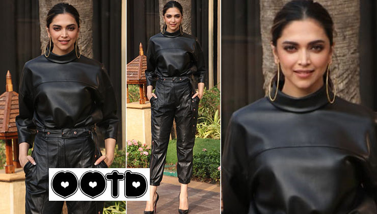 Deepika Padukone's leather on leather pantsuit is a must have in this frosty January
