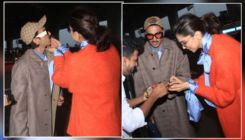 Watch Video: Deepika Padukone cuts a cake at the airport; feeds a piece to hubby Ranveer Singh