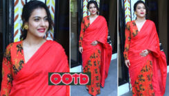 'Tanhaji: The Unsung Warrior' promotions: Kajol looks ravishing in this red printed sari
