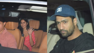 Katrina Kaif and Vicky Kaushal snapped at a dinner party, sparks dating rumours again - view pics