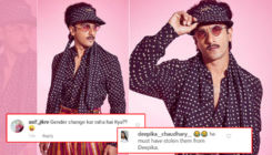 Ranveer Singh trolled for his retro-themed outfit; netizens ask, 'Did you steal Deepika's clothes'?