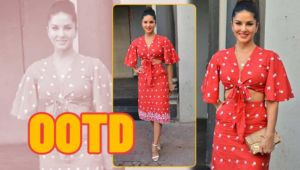 Sunny Leone looks absolutely radiant in embroidered co-ords