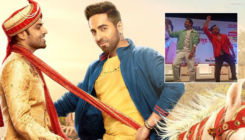 Ayushmann Khurrana and his on-screen beau Jitendra Kumar set the stage on fire with their dhamakedar dance on 'Lollipop Lagelu' song