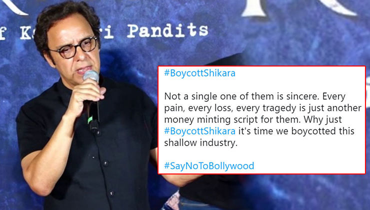 'Shikara': Netizens call for the film's boycott after Vidhu Vinod Chopra's 'a fight between two friends' remark