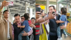 Saif Ali Khan is mighty pissed as selfie-seeking fans mob Kareena and Taimur- watch video