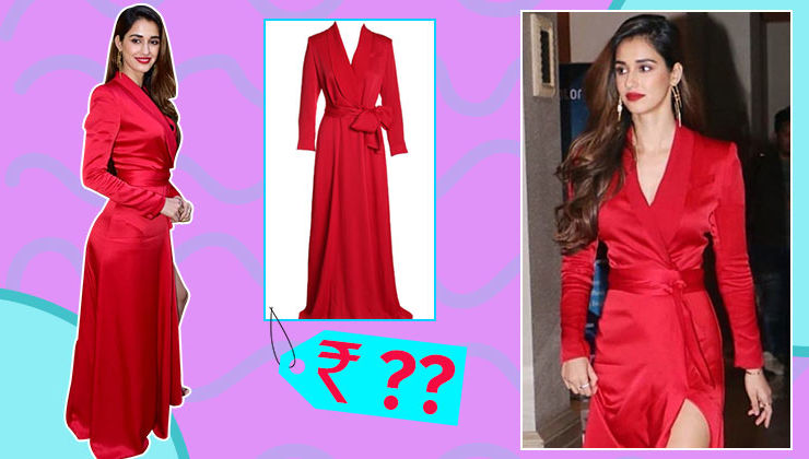 Disha Patani's red gown can sponsor your dream trip to the North East with your partner this Valentine's Day