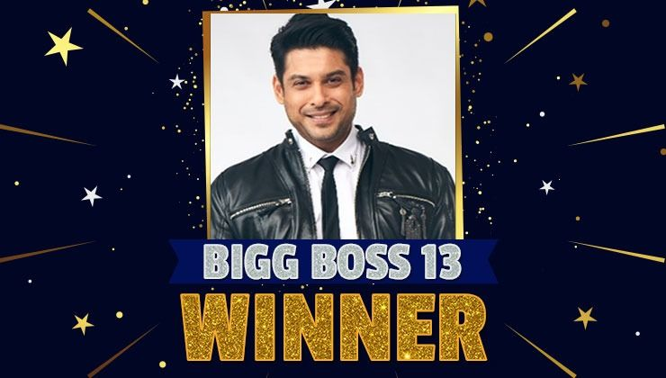 'Bigg Boss 13' Winner:  Sidharth Shukla Wins the Salman Khan hosted reality show