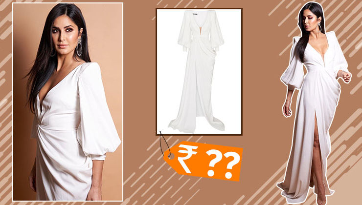 Katrina Kaif's drape front crepe gown comes with a hefty price tag