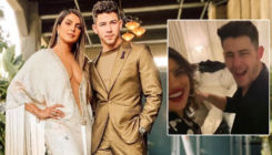 Priyanka Chopra and Nick Jonas celebrate Valentine's Day in Bollywood style; The couple grooves to 'Aankh Marey' song-watch