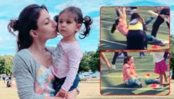 Soha Ali Khan's mighty fall on daughter Inaaya's sports day at school - watch video