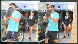 Alleged lovebirds Sushant Singh Rajput and Rhea Chakraborty ditch Rose day celebration for their gym session-view pics