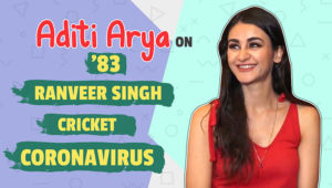 Aditi Arya's quirky take on '83, Ranveer Singh, cricket and Coronavirus outbreak