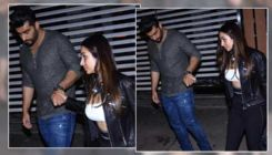 Malaika Arora and BF Arjun Kapoor look smoking hot as they walk out hand-in-hand after a birthday bash
