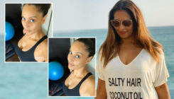 Amid pregnancy reports, Bipasha Basu shares work out pictures from self-quarantine