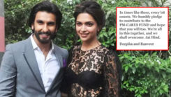 India Fights Coronavirus: Deepika Padukone and Ranveer Singh pledge to contribute for COVID-19 relief