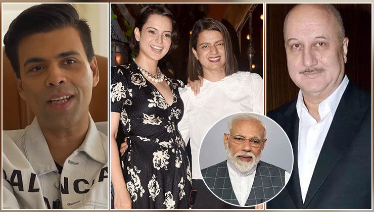 Karan Johar, Anupam Kher and Kangana Ranaut's sister Rangoli pledge support to PM Modi's '9 pm-9 mins' appeal