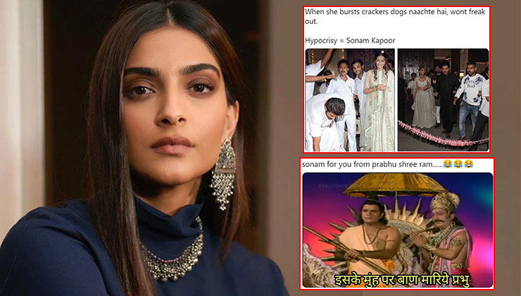 Netizens troll Sonam Kapoor after she lashed out at people for bursting crackers