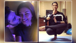 Sushmita Sen takes up beau Rohman Shawl's yoga pose balancing challenge; nails it like a pro