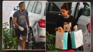 Farhan Akhtar and Shibani Dandekar step out to stock groceries amidst lockdown- view pics