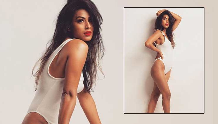 Nia Sharma looks smashing in a white monokini - view hot pics & video