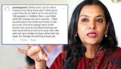 Shabana Azmi blasts a troll who slammed her for posting pictures of poor kids and not helping them in need