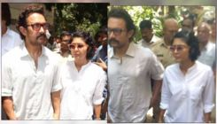 Aamir Khan and Kiran Rao attend the funeral of his assistant Amos- view pics