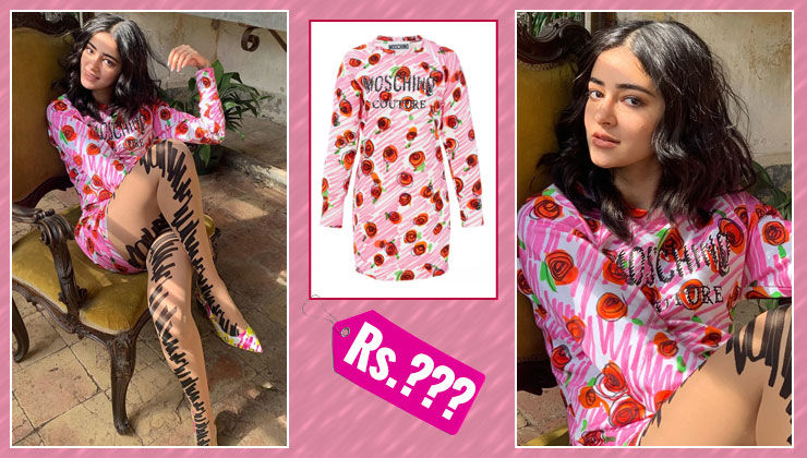Ananya Panday's Moschino rose print dress is super expensive to splurge on!