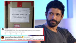 Twitterati slam Farhan Akhtar for displaying his name on PPE kits donated by his fans for frontline warriors