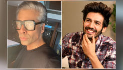 Kartik Aaryan's epic reaction to Karan Johar's white hair will make you ROFL