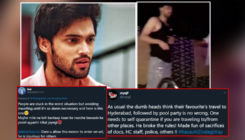 Parth Samthaan slammed by netizens as he enjoys a pool party in Hyderabad during lockdown