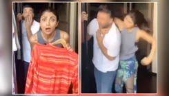 Shilpa Shetty beats up husband Raj Kundra after their maid accuses him of kissing her- watch video