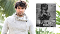 Vivian Dsena slams people who're clicking photos while helping the poor