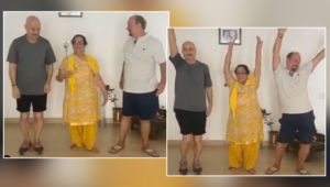 Anupam Kher mother Happy dance challenge