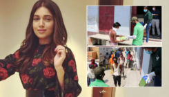 Bhumi Pednekar provides migrants and underprivileged labourers with footwear - view pics
