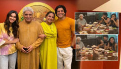 Farhan Akhtar and Shibani Dandekar enjoy Father's Day lunch with Javed Akhtar and Shabana Azmi-watch video