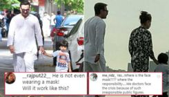 Netizens slam Saif Ali Khan for not wearing mask as he steps out with Kareena Kapoor and Taimur for walk around Marine Drive