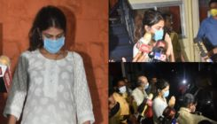 Sushant Singh Rajput's GF Rhea Chakraborty leaves Bandra police station after 9 hours - view pics
