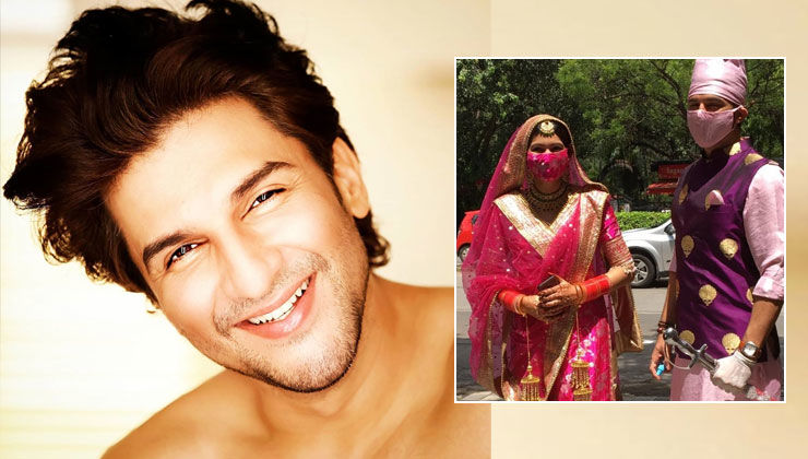 Manish Raisinghan reveals how he held the sword and the sanitizer in each hand during his lockdown wedding to Sangeita Chauhaan