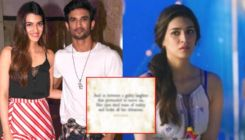 Kriti Sanon pens a cryptic note a month after Sushant Singh Rajput's demise