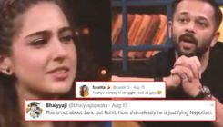 Rohit Shetty gets brutally trolled as an old video of him talking about Sara Ali Khan's struggle goes viral
