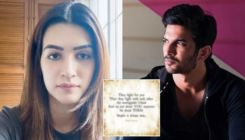 "Kriti Sanon shares cryptic post amidst controversies surrounding Sushant Singh Rajput's death; says, ""It's not about you anymore"""