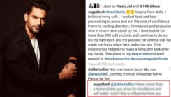 Troll questions Angad Bedi's privilege after he expressed solidarity with Producers Guild's statement; the actor hits back with a savage reply