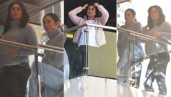Mom-to-be Kareena Kapoor flaunts her baby bump; gets snapped with Karisma Kapoor at her residence - view pics