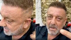 """Sanjay Dutt shows his recent scar; says, """"I'll be out of this cancer soon""""- watch video"""